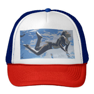Water blue swimming diving underwater trucker hat