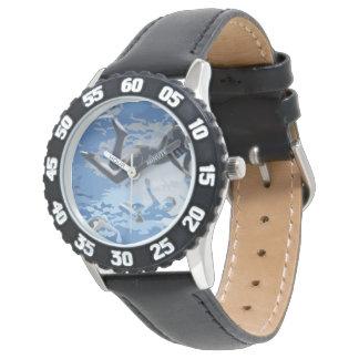 Water blue swimming diving underwater wristwatch