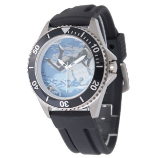 Water blue swimming diving underwater wristwatches