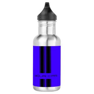Water Bottle - Blue & Black Car