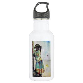 Water bottle, 'girl' on white 532 ml water bottle