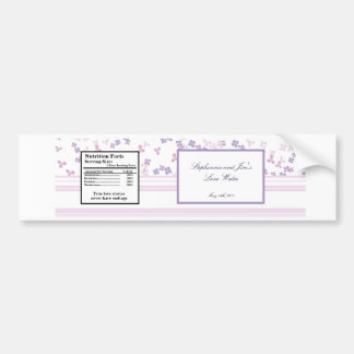 Water Bottle Label Purple Hydrangea