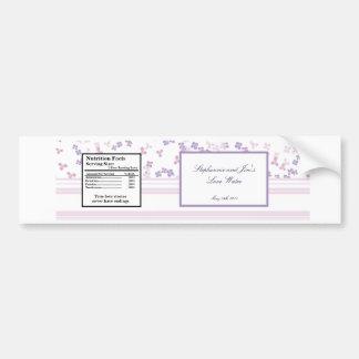 Water Bottle Label Purple Hydrangea Bumper Sticker