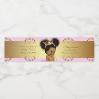 Water Bottle Labels,Sarah's baby shower,pink gold Water Bottle Label