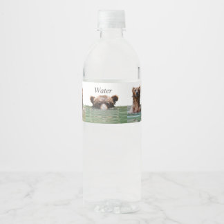 Water Bottle Labels w/ grizzly bears
