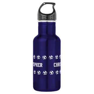 Water Bottle, Personalized, Soccer, Blue 532 Ml Water Bottle
