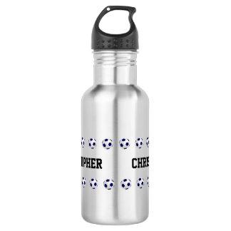 Water Bottle, Personalized, Soccer, Steel
