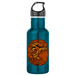 Water bottle with a fierce dragon design