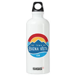 Water bottle with town logo