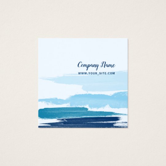 Water Brushstrokes Square Business Card