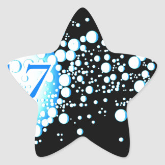 Water Bubbles 2017 Star Sticker