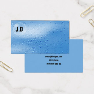 Water bubbles business Cards