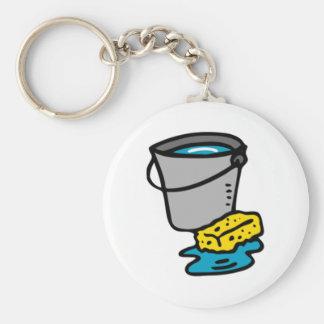 Water Bucket and Sponge Keychain