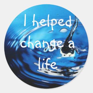 Water Charity Classic Round Sticker