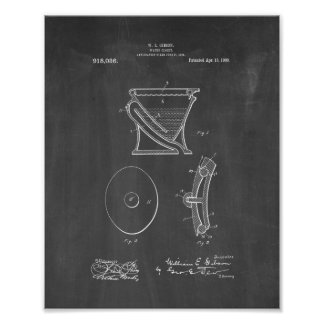 Water-closet - Toilet Patent - Chalkboard Poster