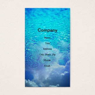Water & Clouds Business Card