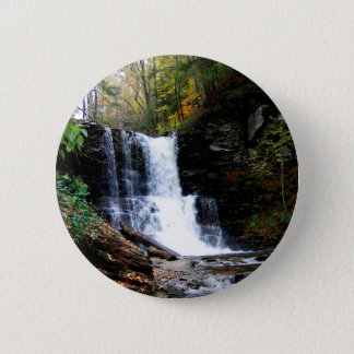 Water Cold River Falls 2 Inch Round Button