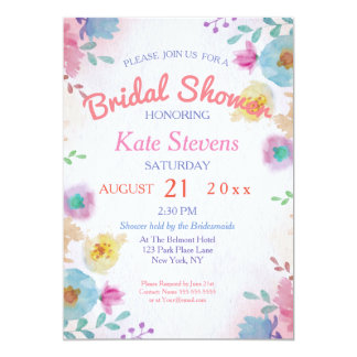 Water color Bridal Shower Card