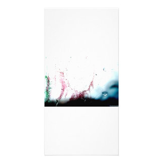 Water Color design Personalized Photo Card