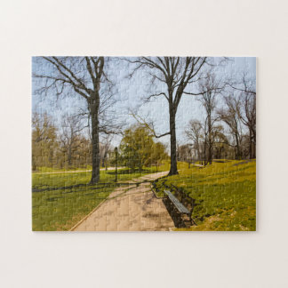 Water Color Effect. Central Park New York. Jigsaw Puzzle