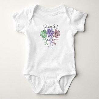 Water Color Flower Girl - Baby Bodysuit