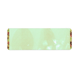 Water color green  Leaf Return Address Label