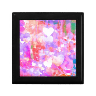 Water Color Hearts Gift Box