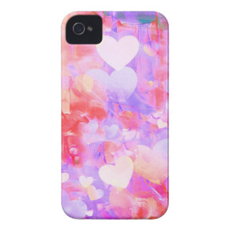 Water Color Hearts iPhone 4 Case-Mate Case