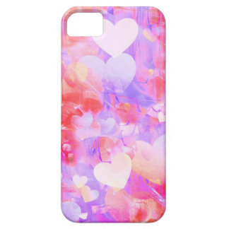 Water Color Hearts iPhone 5 Case