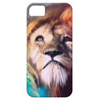 Water color lion iPhone 5/5S cases