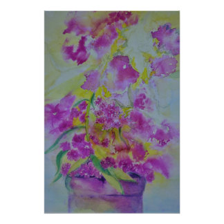 water color poster flowers