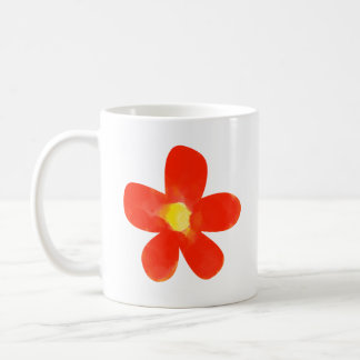 Water color red flower White 11 oz Classic Mug