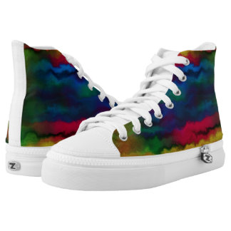Water Color rubber soled sneakers