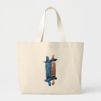 Water Color Torah Large Tote Bag