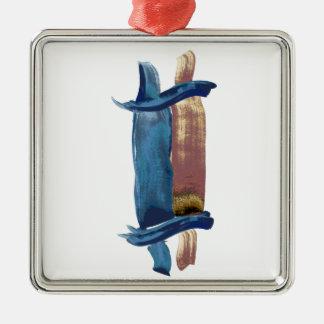 Water Color Torah Silver-Colored Square Ornament