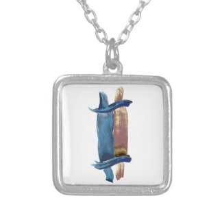 Water Color Torah Silver Plated Necklace