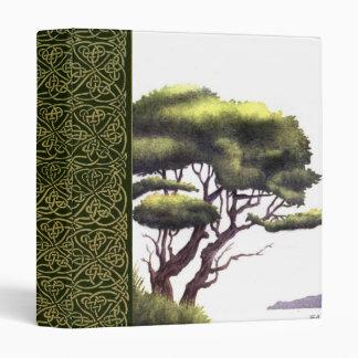 water color tree scrapbook binder