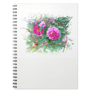 Water color, Watercolor. Hedge rose, flowers, Spiral Notebook