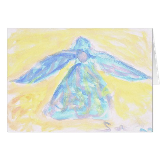 Water Colour Angel Card