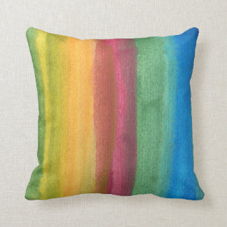 water colour painted abstract throw pillow