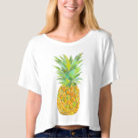 Water colour pineapple tees