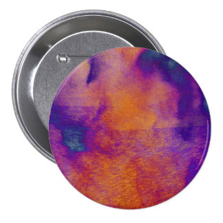 Water colour red yellow blue purple graphic art 3 inch round button