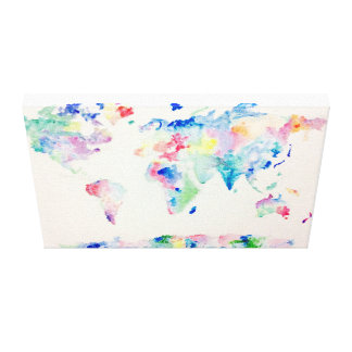 Water colour World Canvas Print