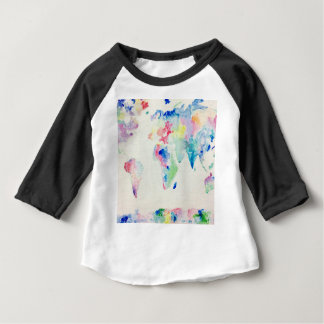 water colour world map baby T-Shirt