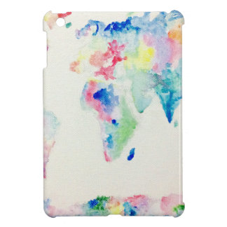 water colour world map iPad mini cover