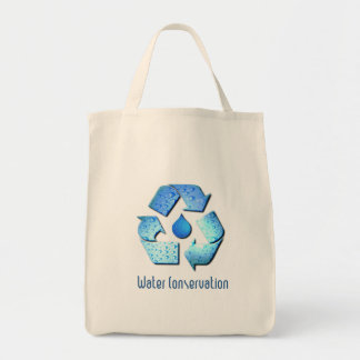 Water Conservation Grocery Tote Bag