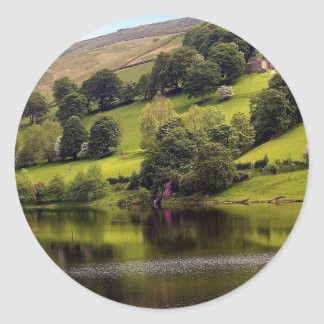 Water Country Cottage Lake Classic Round Sticker