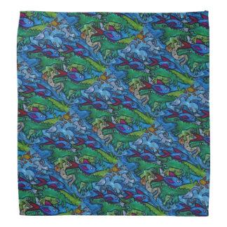 Water Creature Jumble Pattern Do-rag