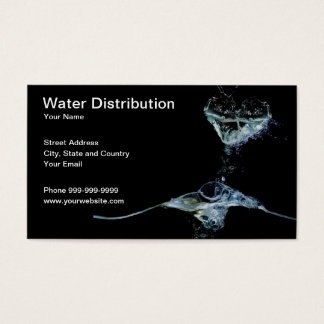 water distribution business card