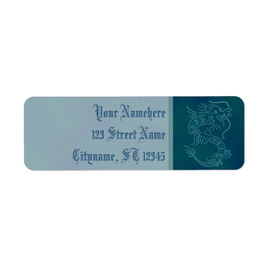 Water Dragon Return Address Label